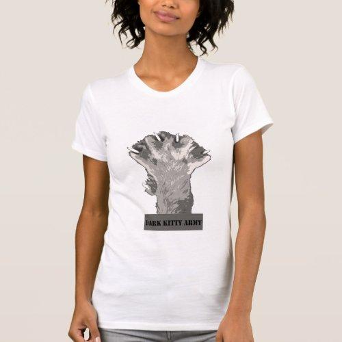Dark Kitty Army Tshirt White