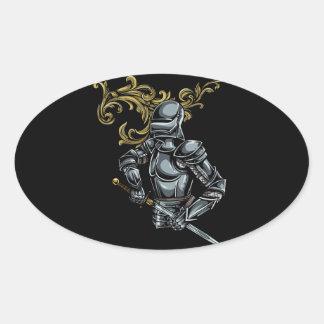 Dark Knight Armour Oval Sticker