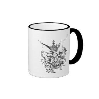 Dark Knight Logo Detailed Ringer Mug
