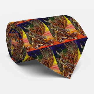 DARK KNIGHT WITH DRAGON Fantasy Neck Tie