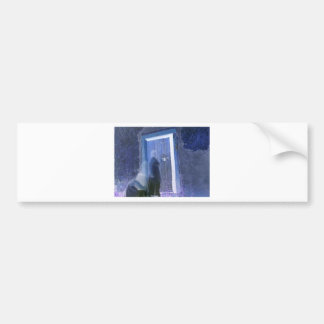 dark knockings long exposure ghost photography bumper sticker