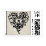 Dark Lacy Heart Postage Stamps