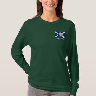 Dark ladies long sleeve + Beach Volley logo + sun T-Shirt