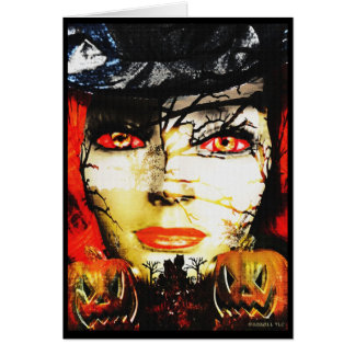 Dark Lady of Halloween Card