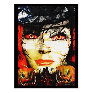 Dark Lady of Halloween Postcard