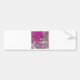 Dark Lavender Abstract Low Polygon Background Bumper Sticker