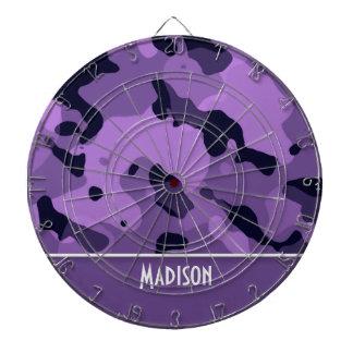Dark Lavender Camo; Personalized Dart Board
