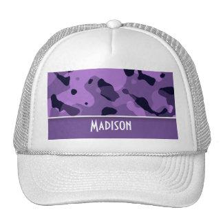 Dark Lavender Camo; Personalized Trucker Hat