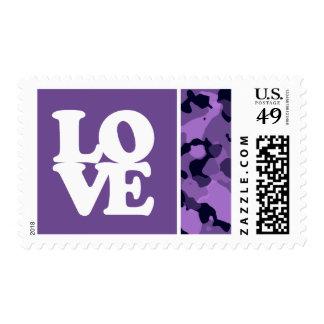 Dark Lavender Camo; Personalized Postage Stamp