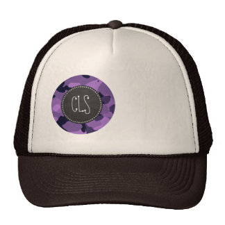 Dark Lavender Camo; Vintage Chalkboard Hat