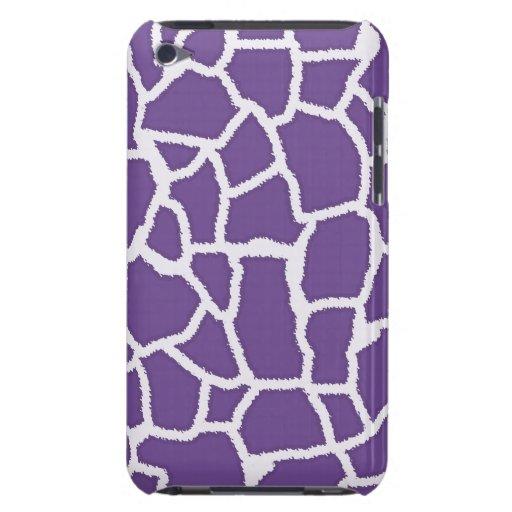 Dark Lavender Giraffe Animal Print iPod Case-Mate Case