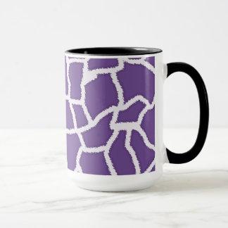 Dark Lavender Giraffe Print; Retro Chalkboard Mug