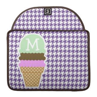 Dark Lavender, Purple Houndstooth; Ice Cream MacBook Pro Sleeve