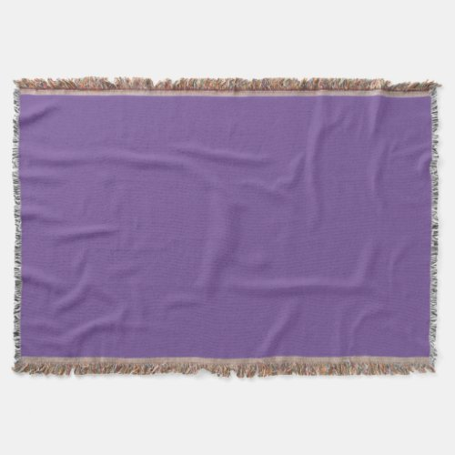 Dark Lavender Throw Blanket