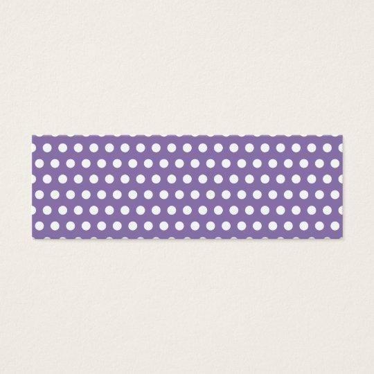 Dark Lavender with White Polka Dots Mini Business Card