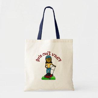 Dark Lawn Care Girl Budget Tote Bag