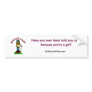 Dark Lawn Care Girl Bumper Sticker