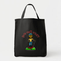 Dark Lawn Care Girl Canvas Bags