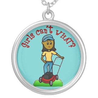 Dark Lawn Care Girl Custom Necklace