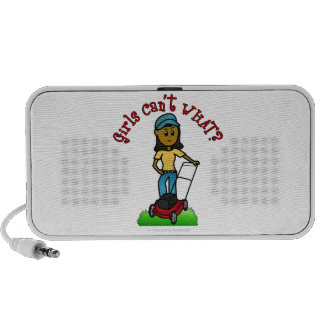 Dark Lawn Care Girl iPhone Speaker
