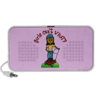 Dark Lawn Care Girl iPod Speaker