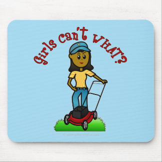 Dark Lawn Care Girl Mouse Pad