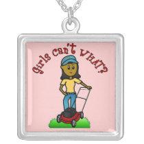Dark Lawn Care Girl Necklaces