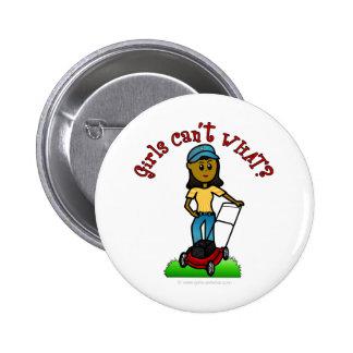 Dark Lawn Care Girl Pin