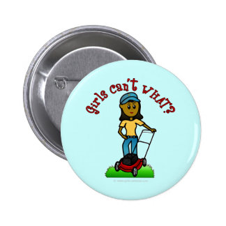 Dark Lawn Care Girl Pinback Buttons