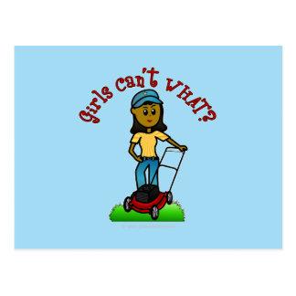 Dark Lawn Care Girl Postcards