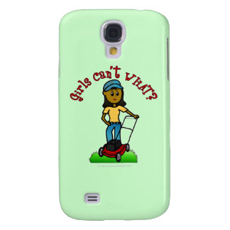 Dark Lawn Care Girl Samsung Galaxy S4 Covers