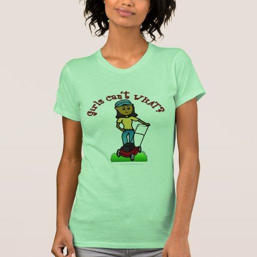 Dark Lawn Care Girl Shirt