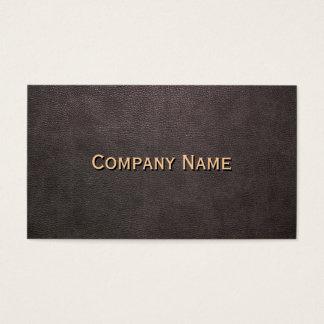 Dark Leather Background Customizable Business Card