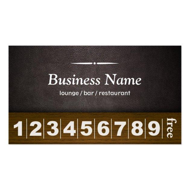 Dark Leather Lounge Bar Business Loyalty Card Business ...