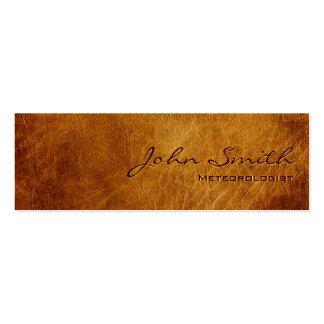 Dark Leather Meteorological Business Card