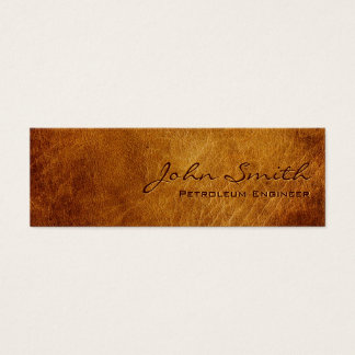 Dark Leather Petroleum Engineer Business Card