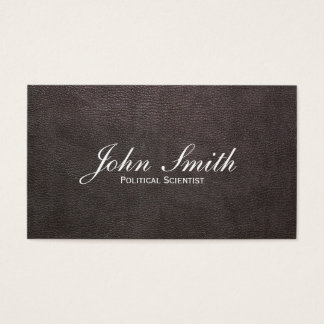 Dark Leather Political Scientist Business Card