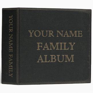 Dark Leather Print Family Album Binder