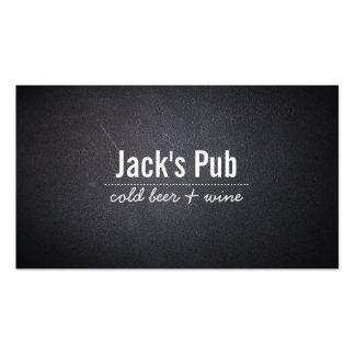 Dark Leather Texture Beer Bar Pub Business Card