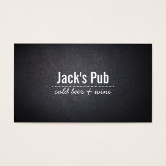 Dark Leather Texture Beer Bar/Pub Business Card