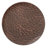 Dark Leather Texture Party Plate