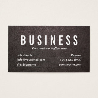 Dark Leather Texture Referee Business Card