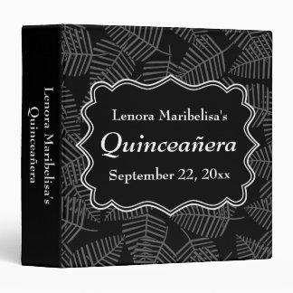 Dark Leaves Pattern Quinceanera Binder