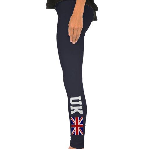 Dark leggings with British flag   Union Jack