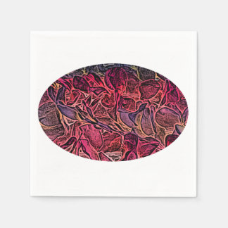 dark lei pink abstract sketch neat background disposable napkin