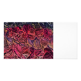 dark lei pink abstract sketch neat background customized photo card