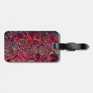 dark lei pink abstract sketch neat background travel bag tags
