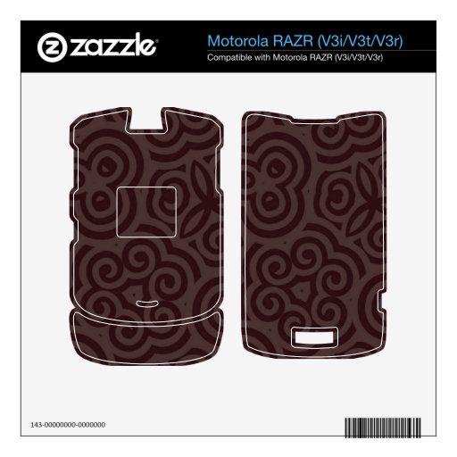 Dark & Light Abstract Pattern Skins For Motorola RAZR