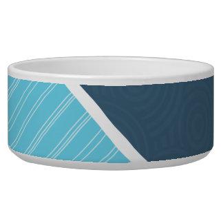 Dark & Light Blue Dog Food Bowls