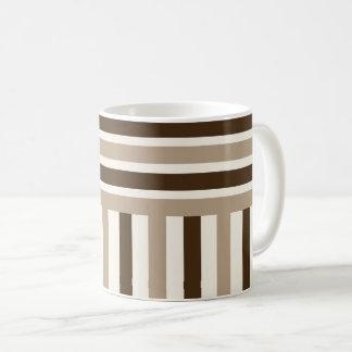Dark light brown stripes coffee mug